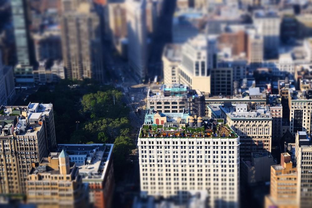 bird's-eye-view photo of buildings