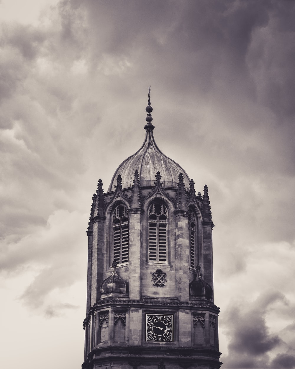 grayscale photography of dome building