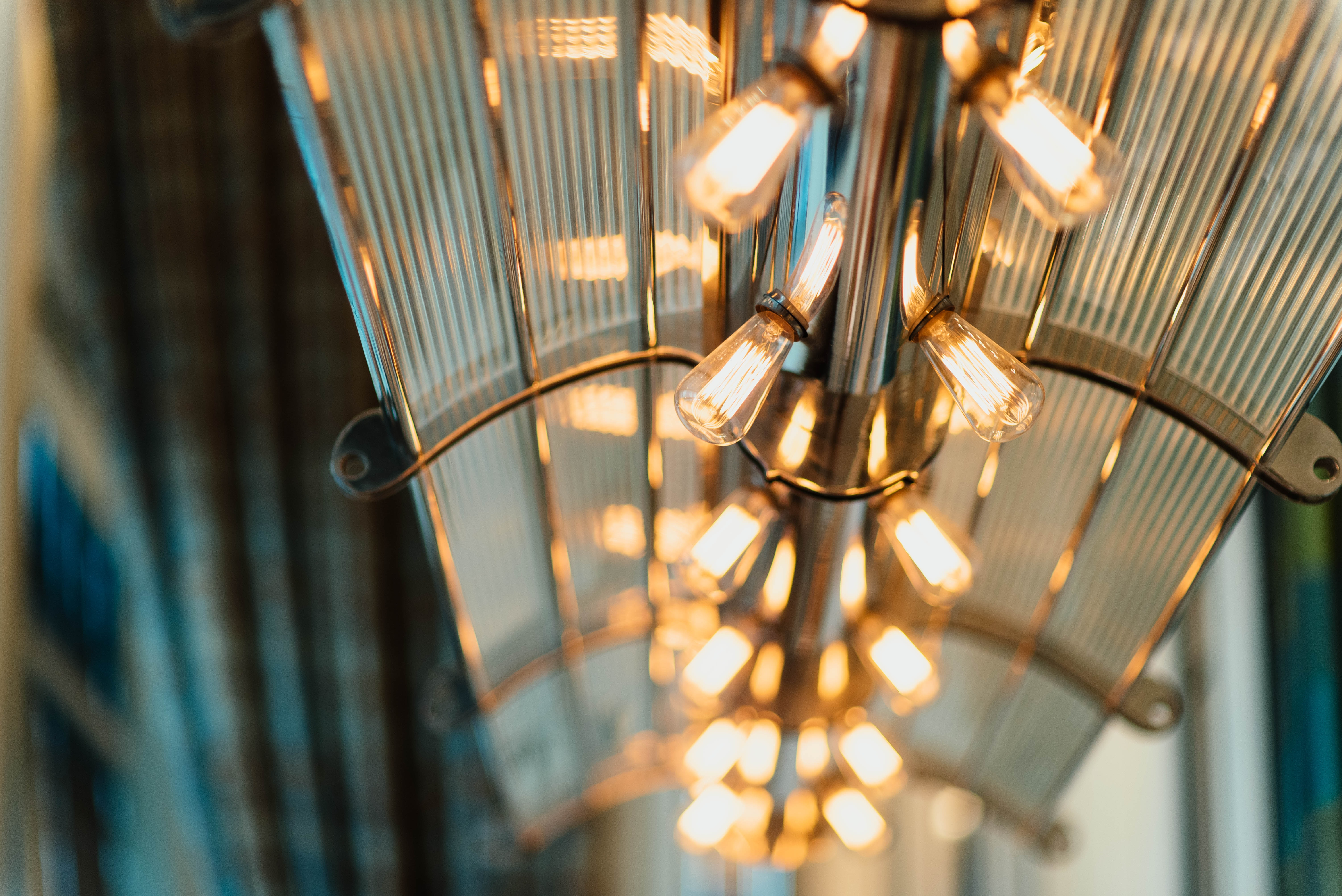 gray and brown light fixture