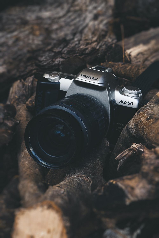 black and gray Pentax MZ-50 camera