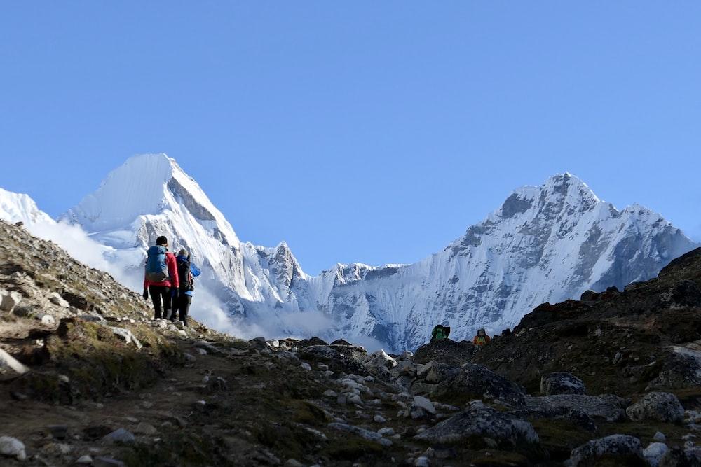 two person on mountain