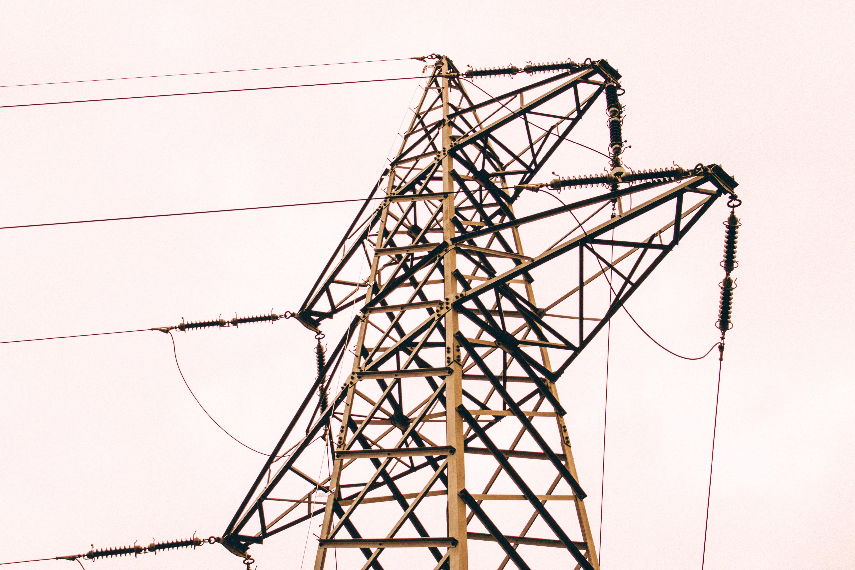 brown metal electric post