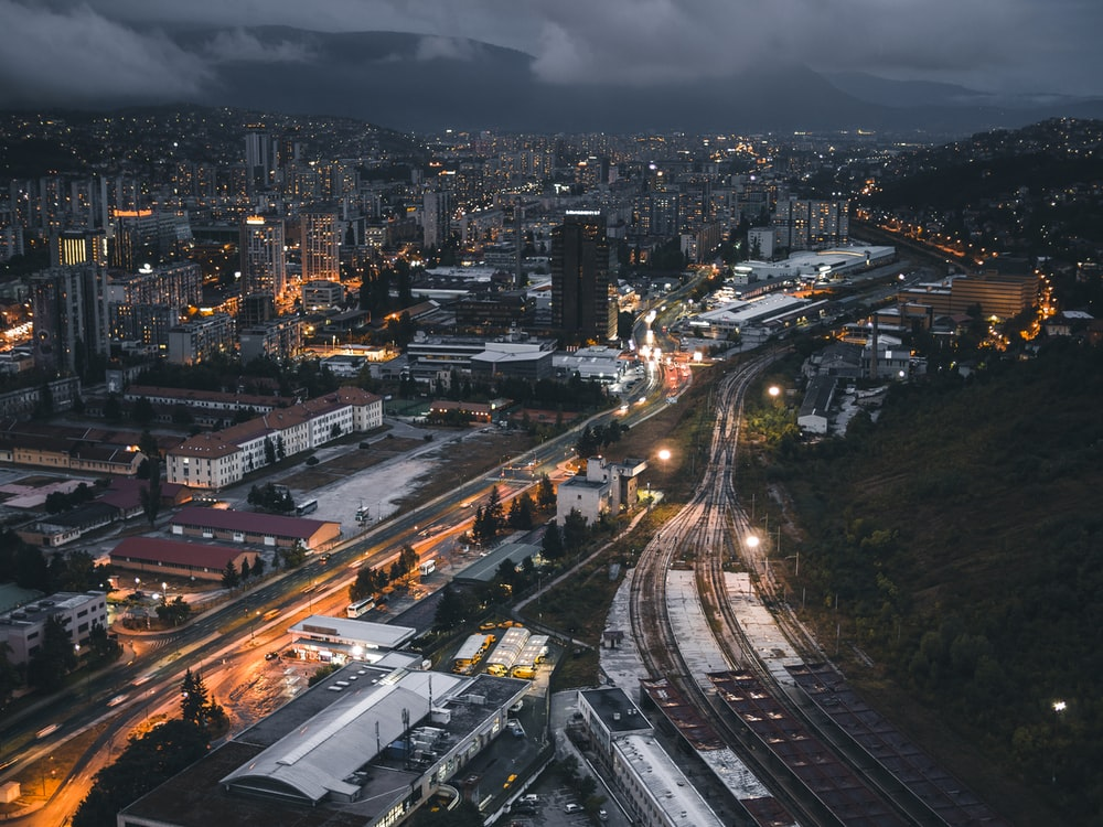 photo of city during nightime