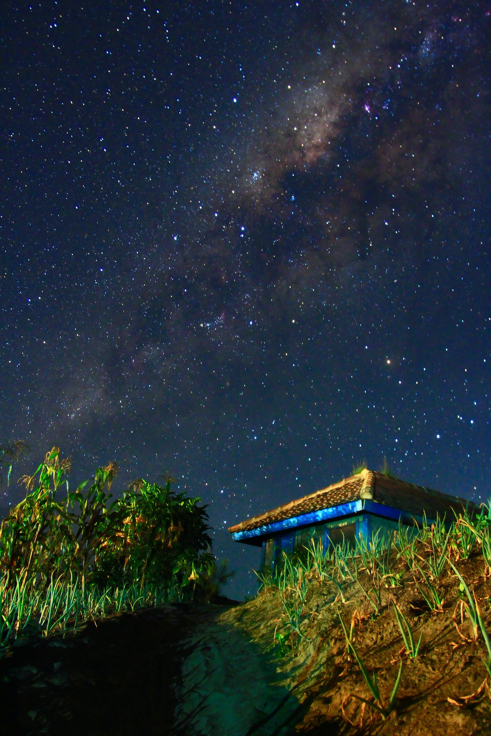 milky way during nighttime
