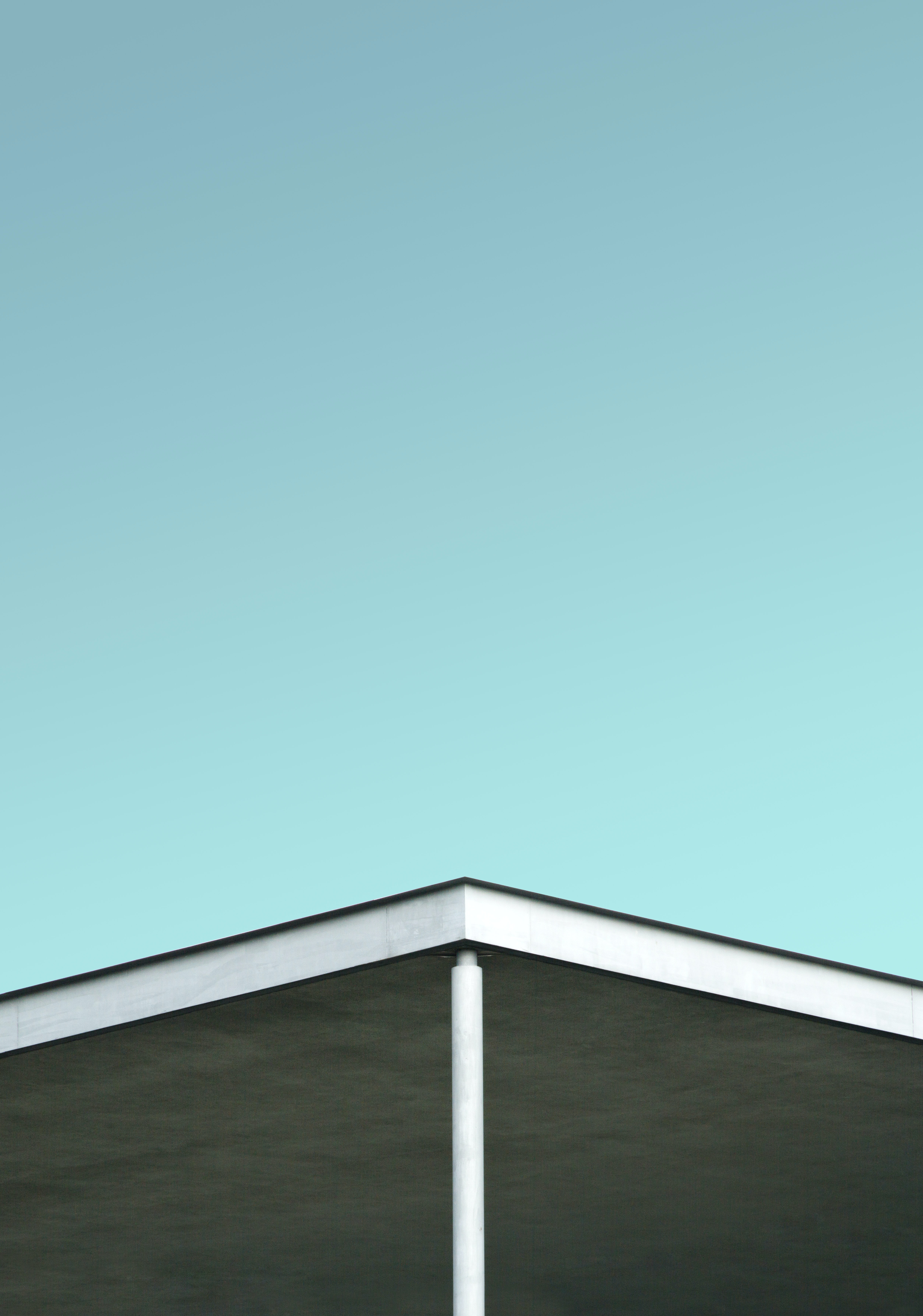 white roof under clear sky