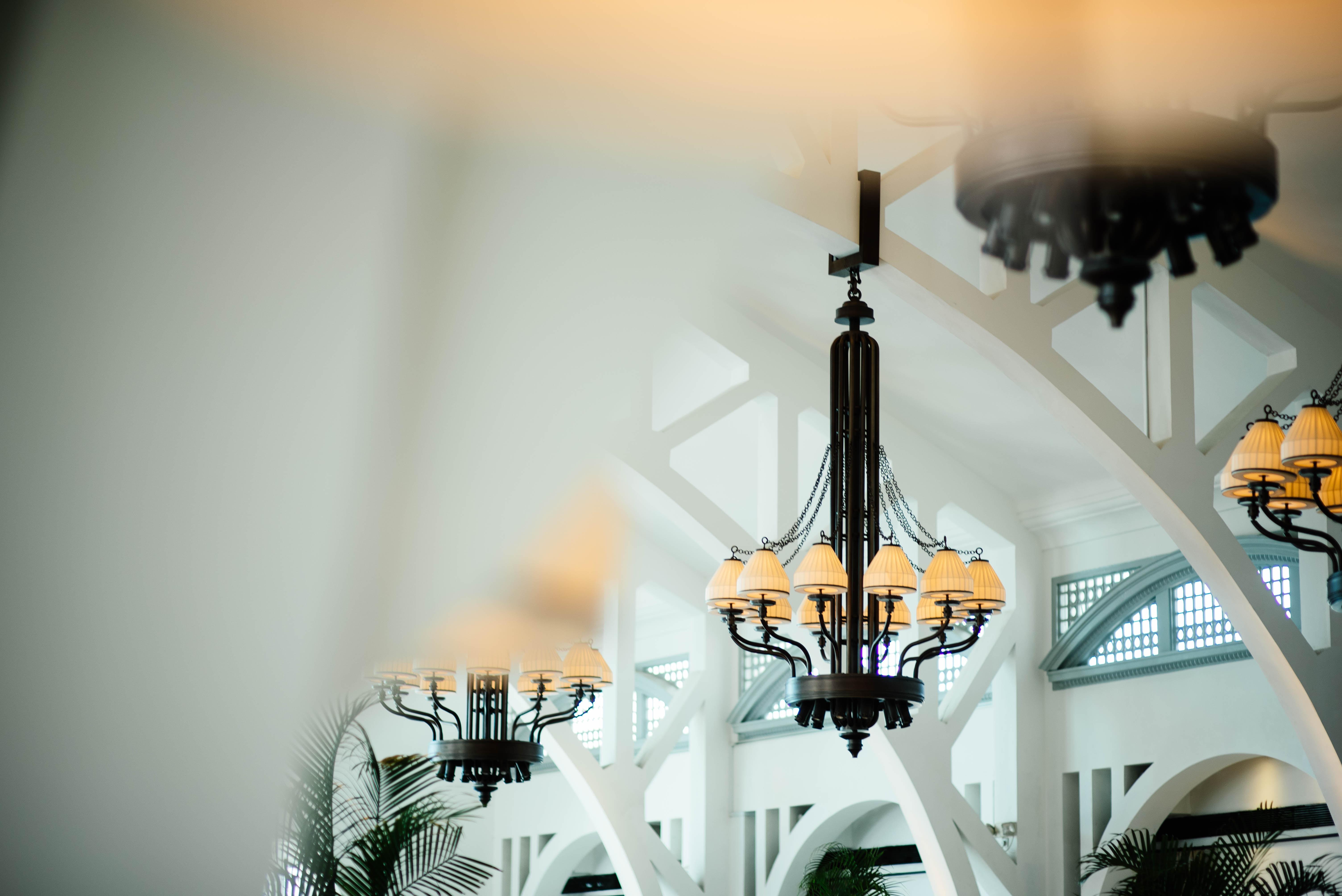 black metal base chandelier