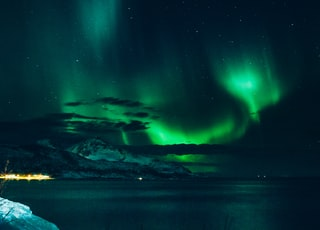 photo of aurora lights