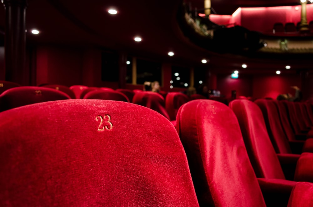 red cinema seat number 23