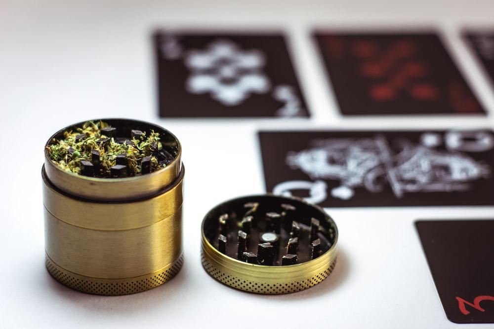 green herb grinder