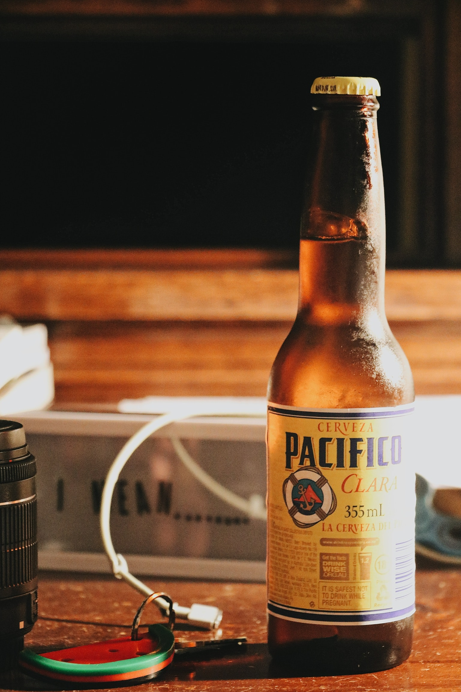 Cerveza Pacifico beer bottle