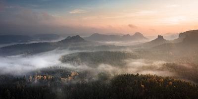 Saxon Switzerland sunrise