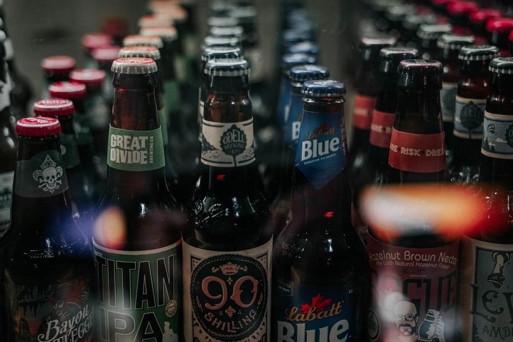 assorted-label bottle lot