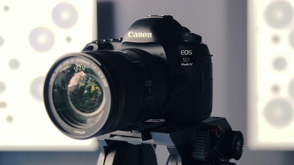 black Canon EOS 5D camera shallow focus photography