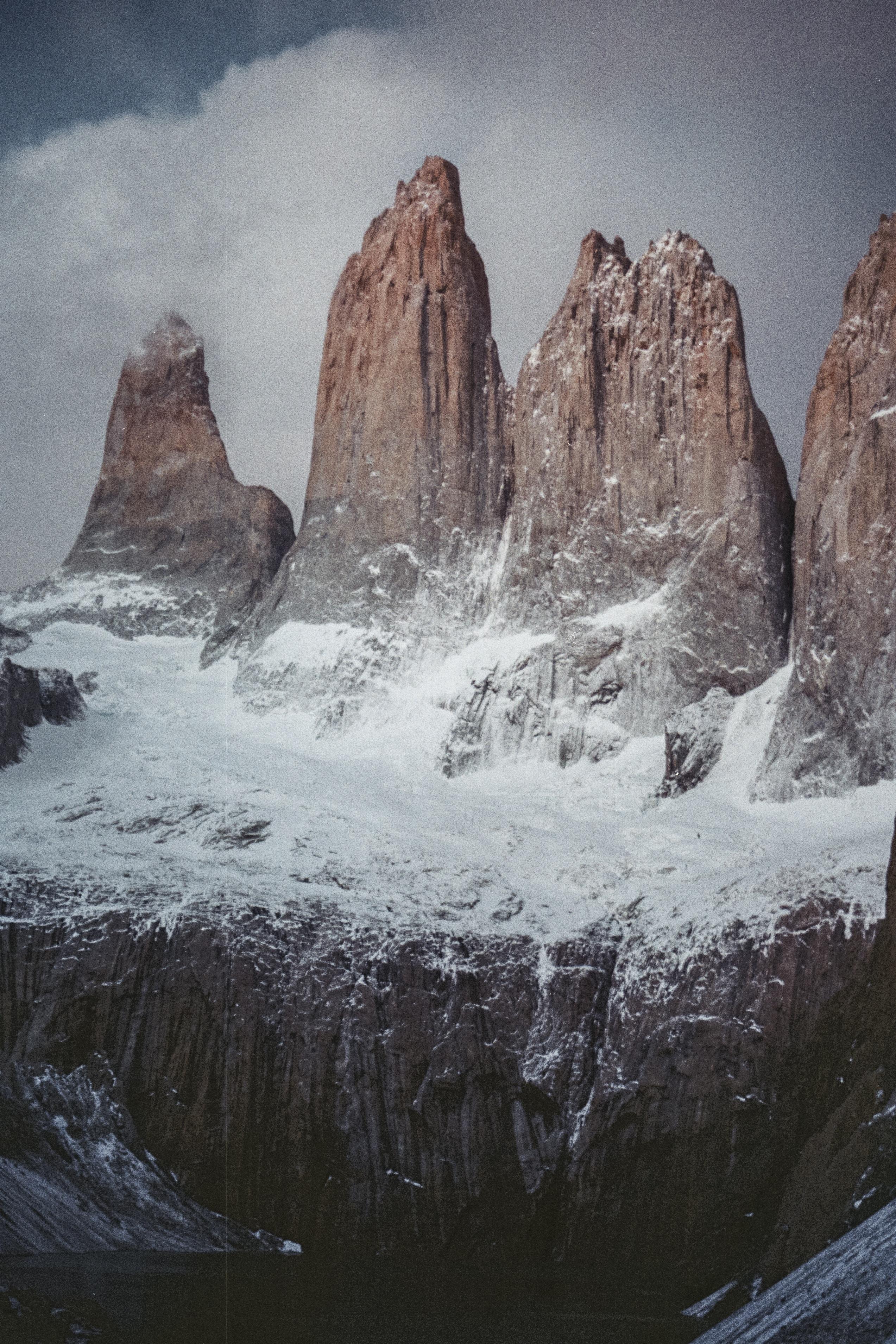 high-angle photography of brown mountains