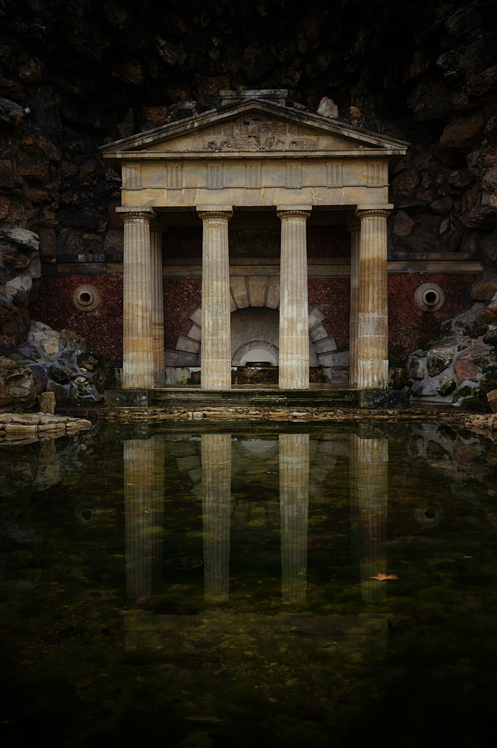 landmark in front of body of water