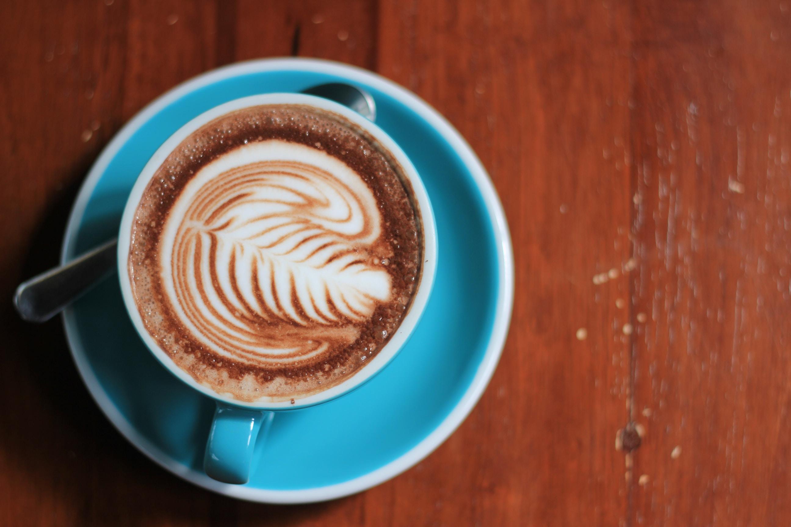 brown latte art