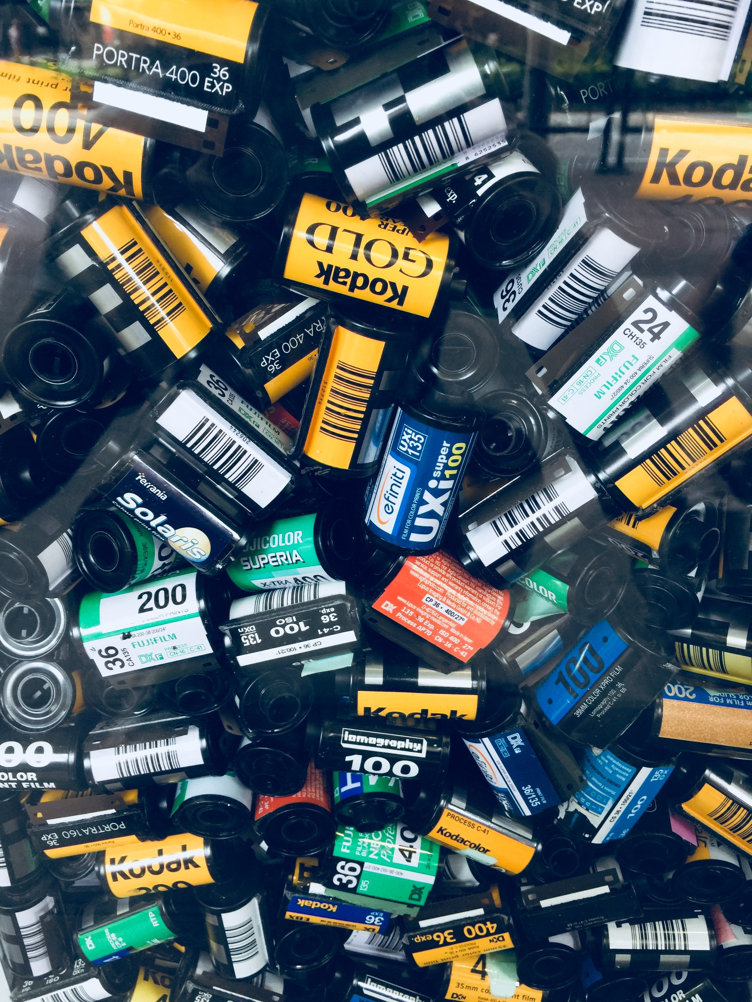 pile of camera films