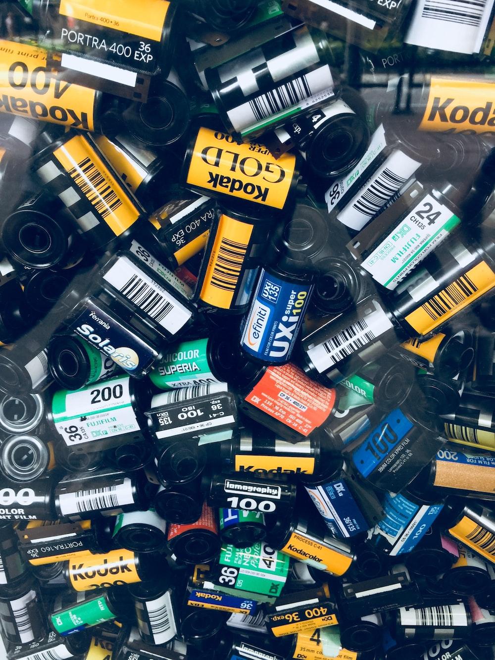 pile of camera films