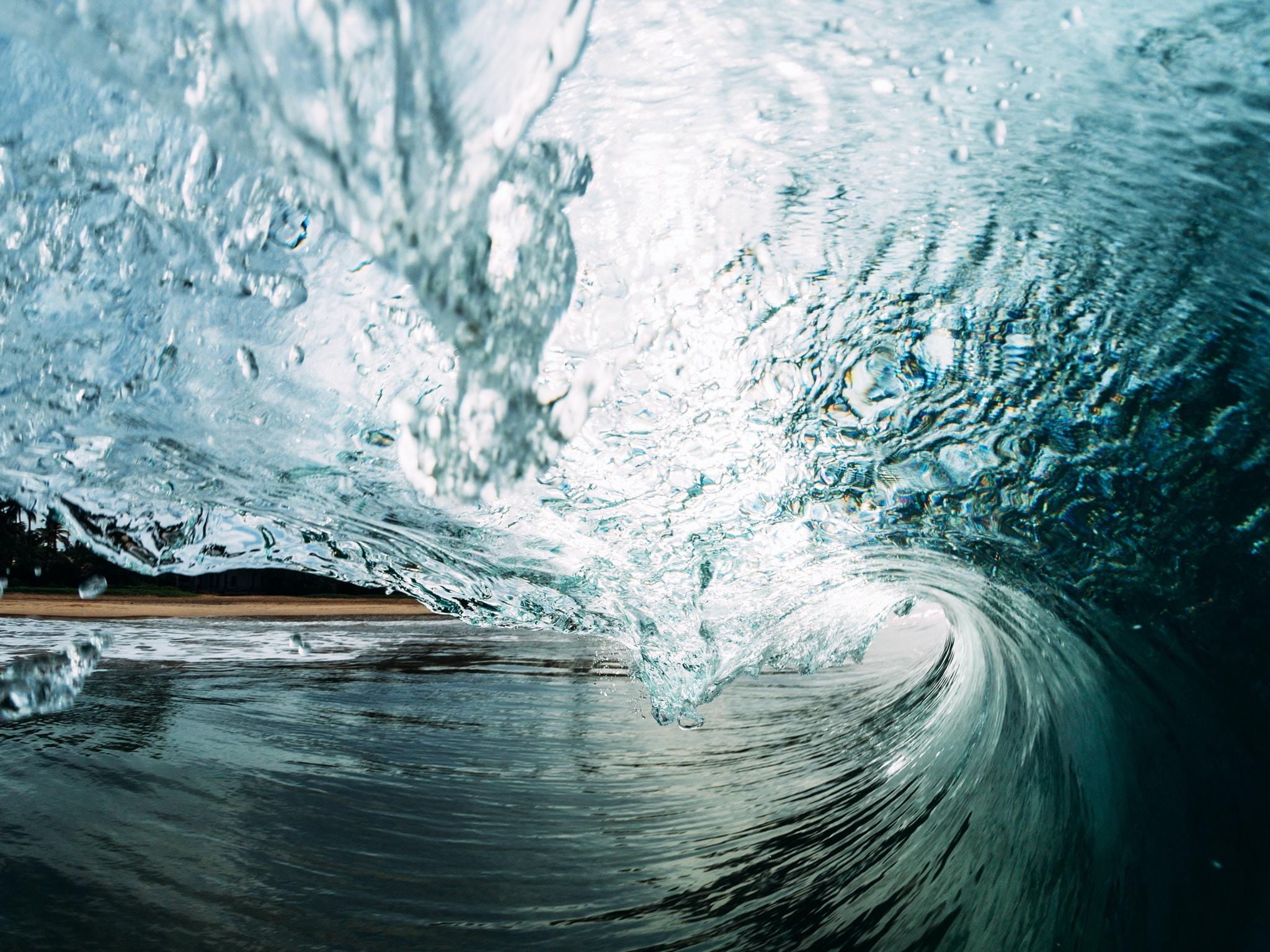 photo of wavy water