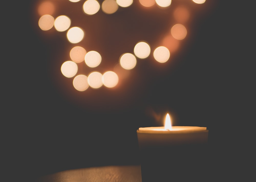 candle in bokeh effect