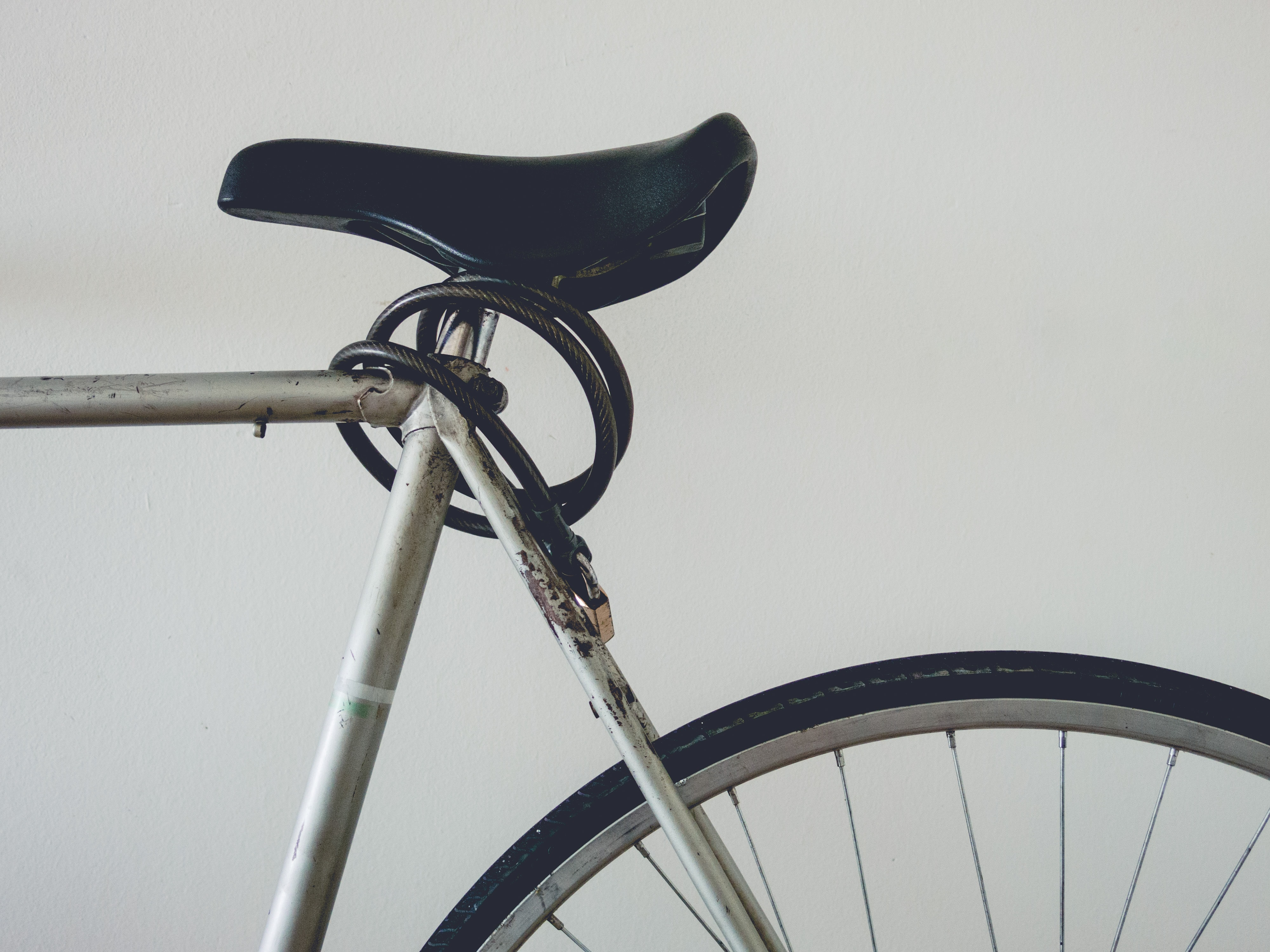 gray and black bicycle