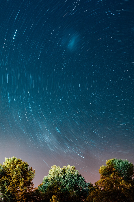 timelapse photo of stars