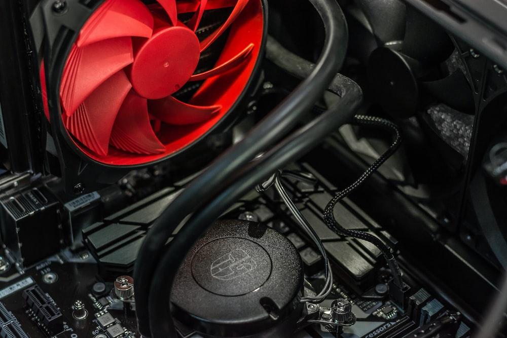 black CPU cooling system
