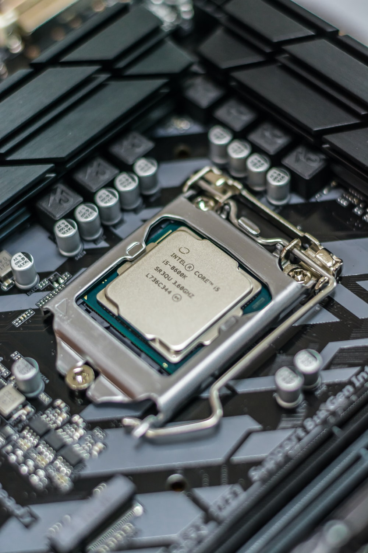 macro shot photography of Intel Core i5 processor