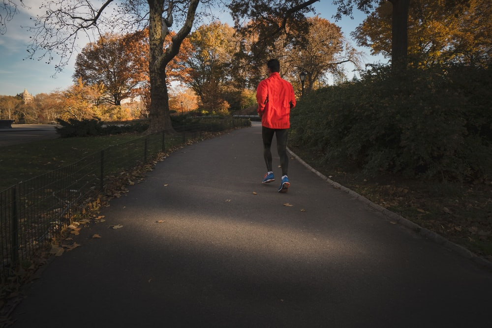 person jogging near park during daytime