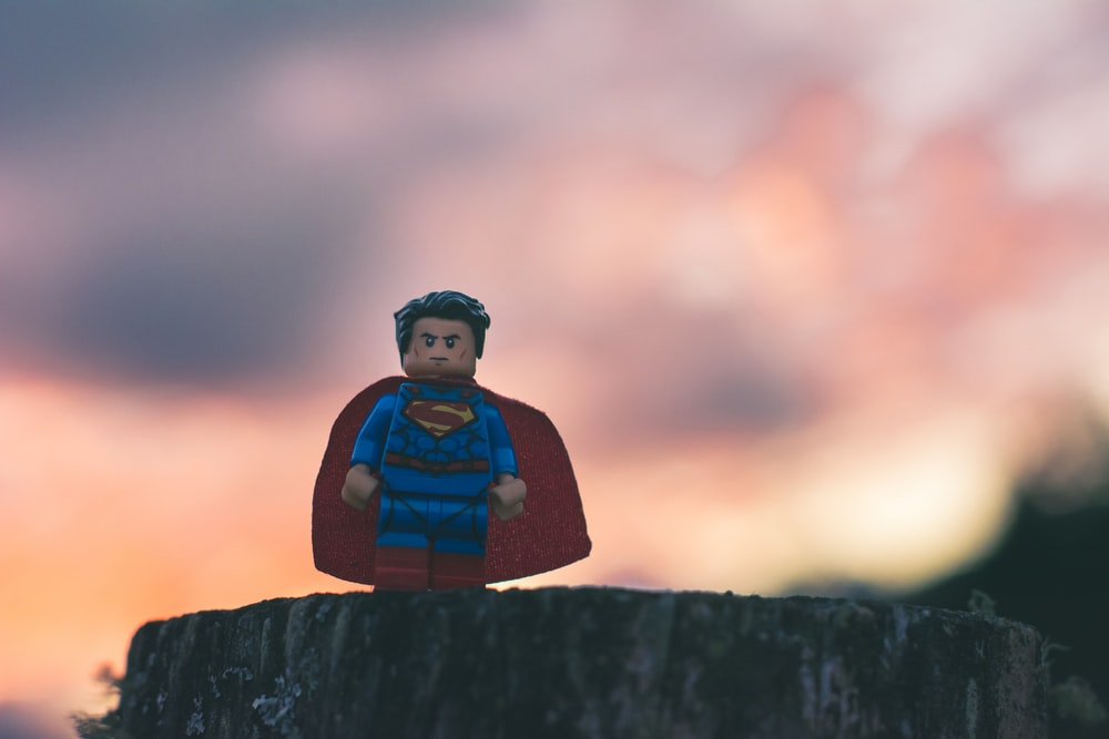 Funko Superman in shallow focus