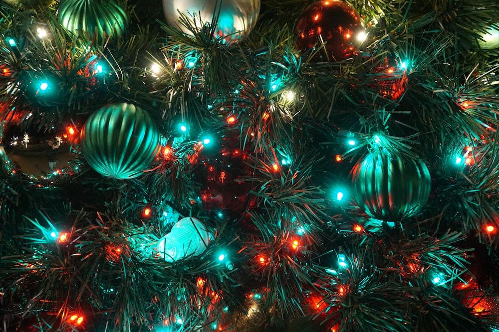 lighted Christmas string lights