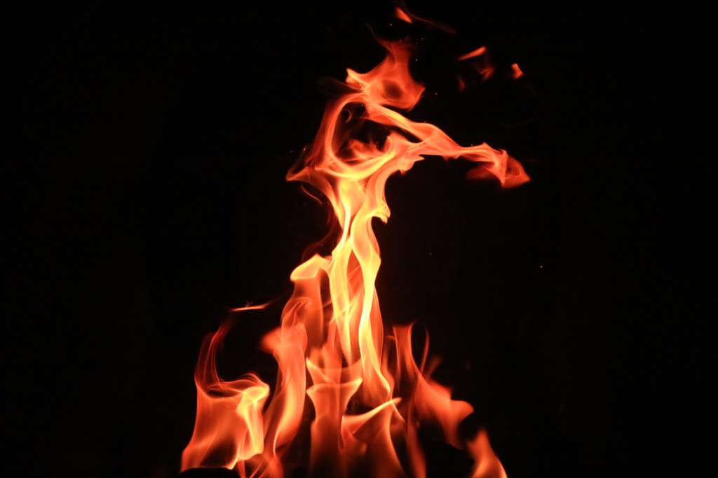 selective focus photography of fire
