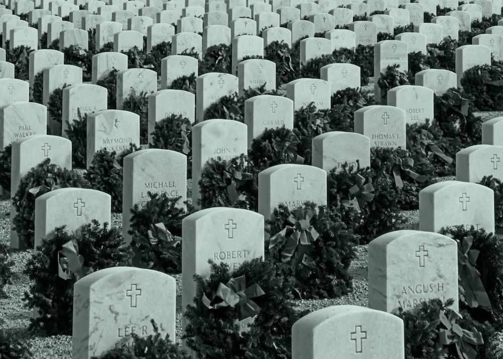 white tombstone