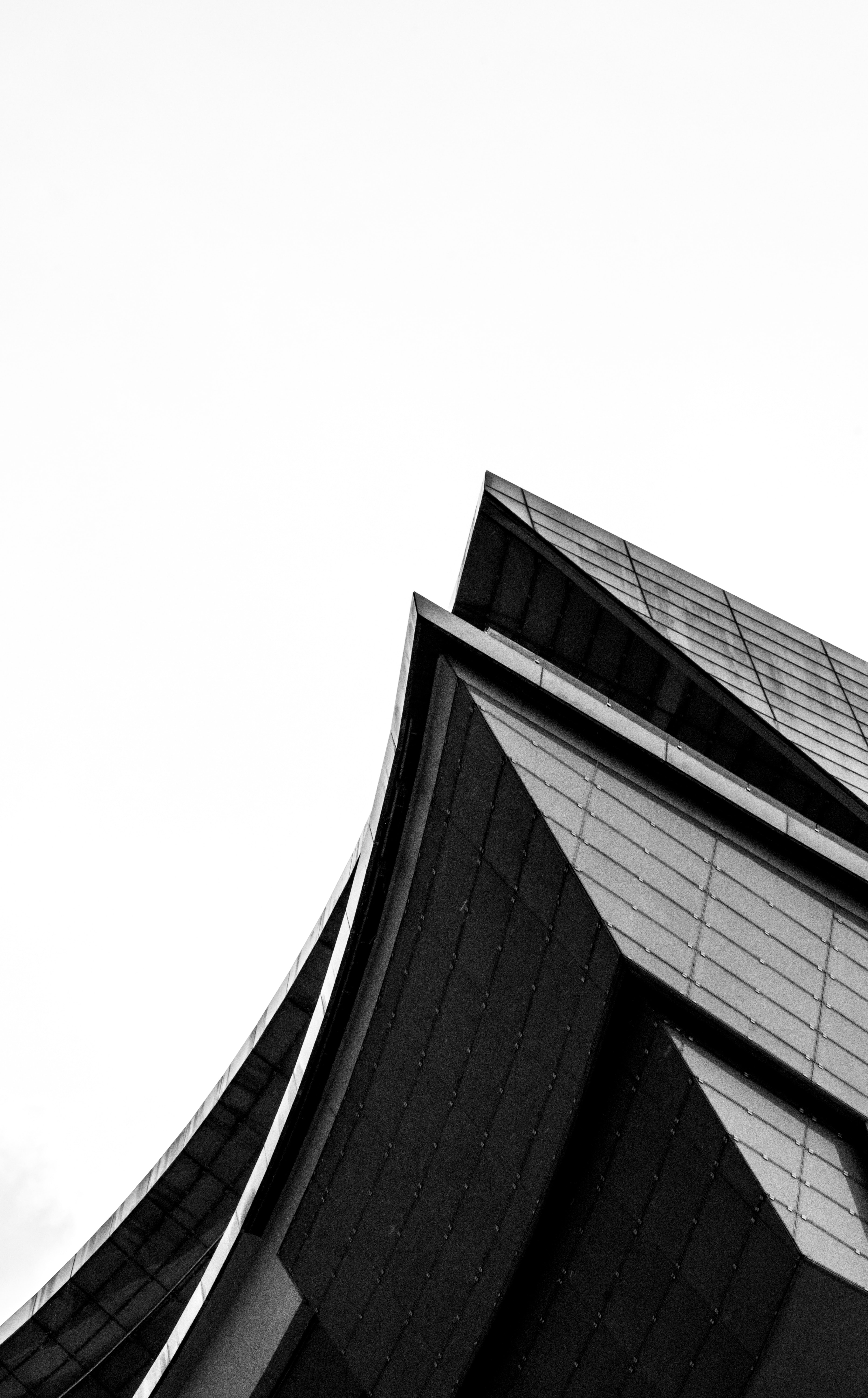 worms eye view of black building