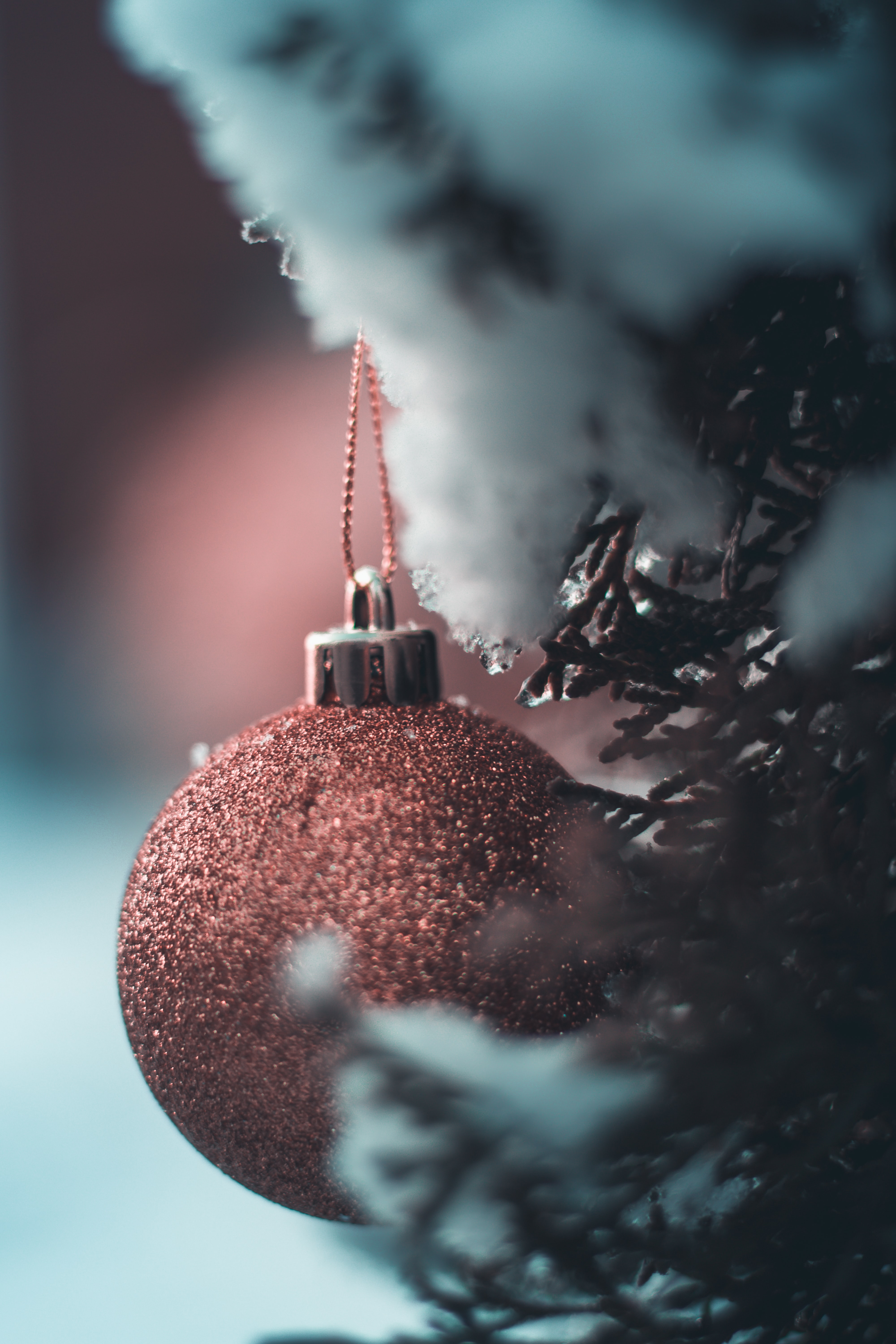 selective focus photography of bauble
