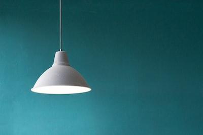 white pendant lamp minimal zoom background
