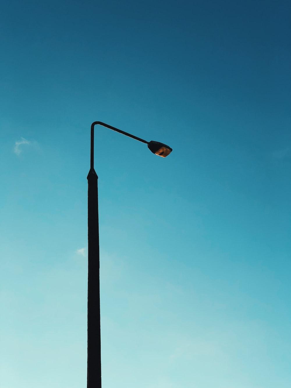 turned-off light post