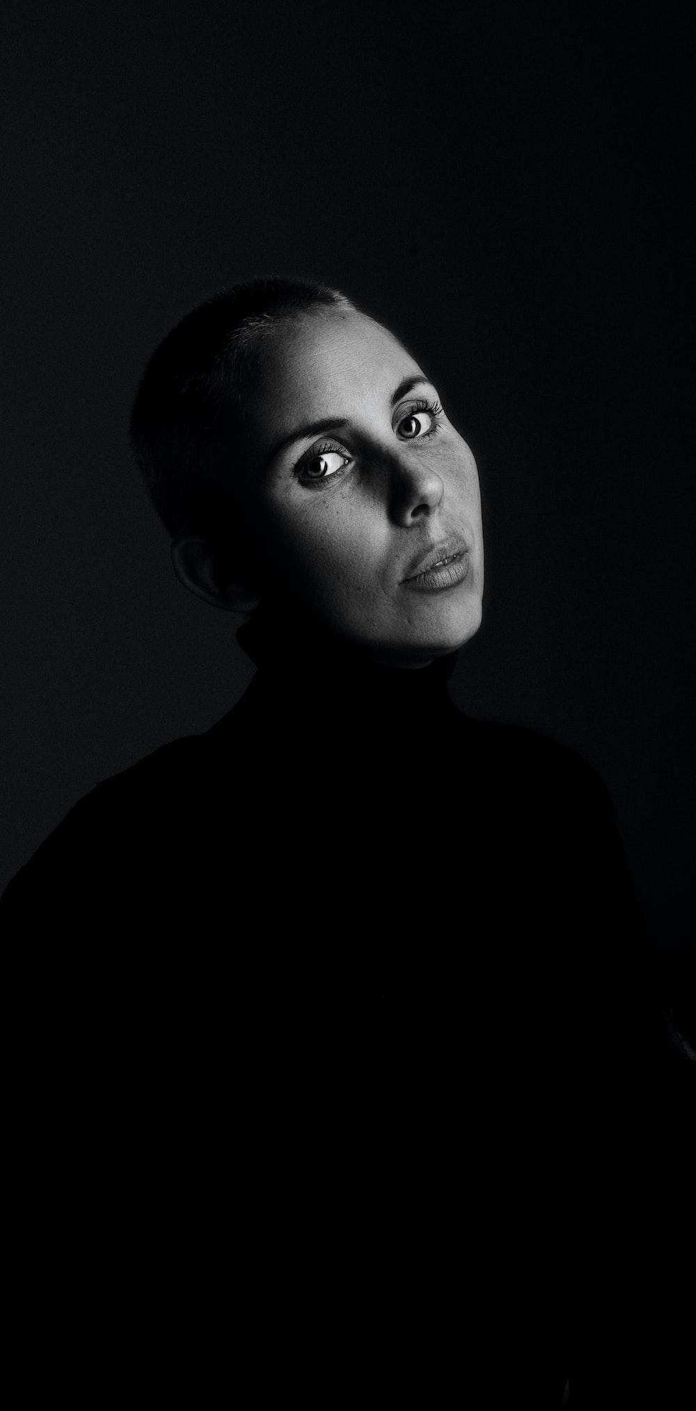 woman wearing black tops