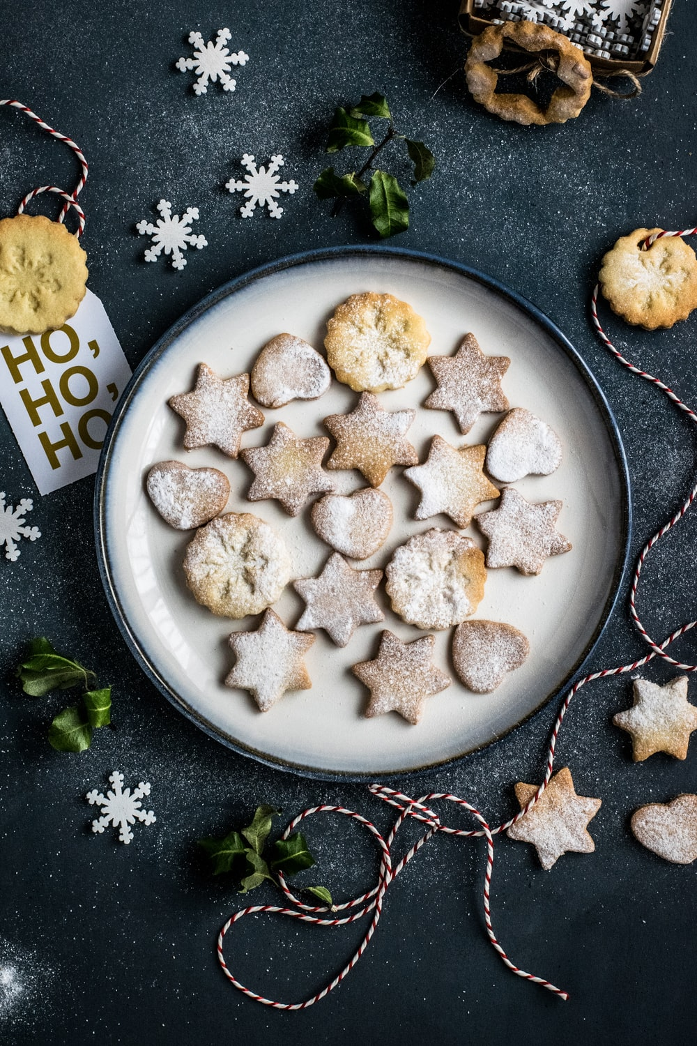 butter cookies on plate