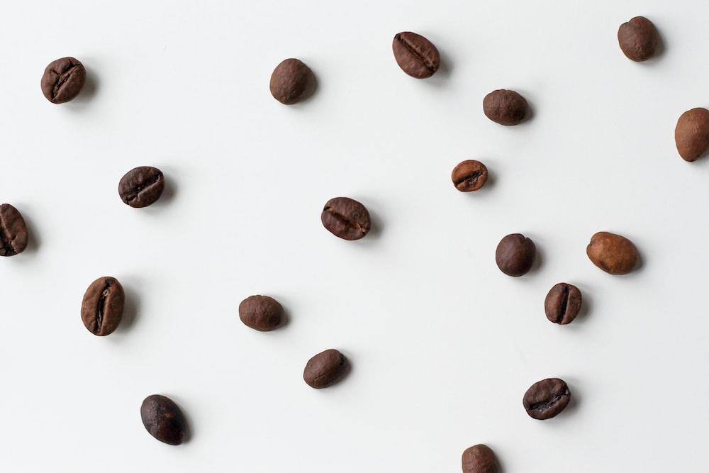 brown coffee bean lot
