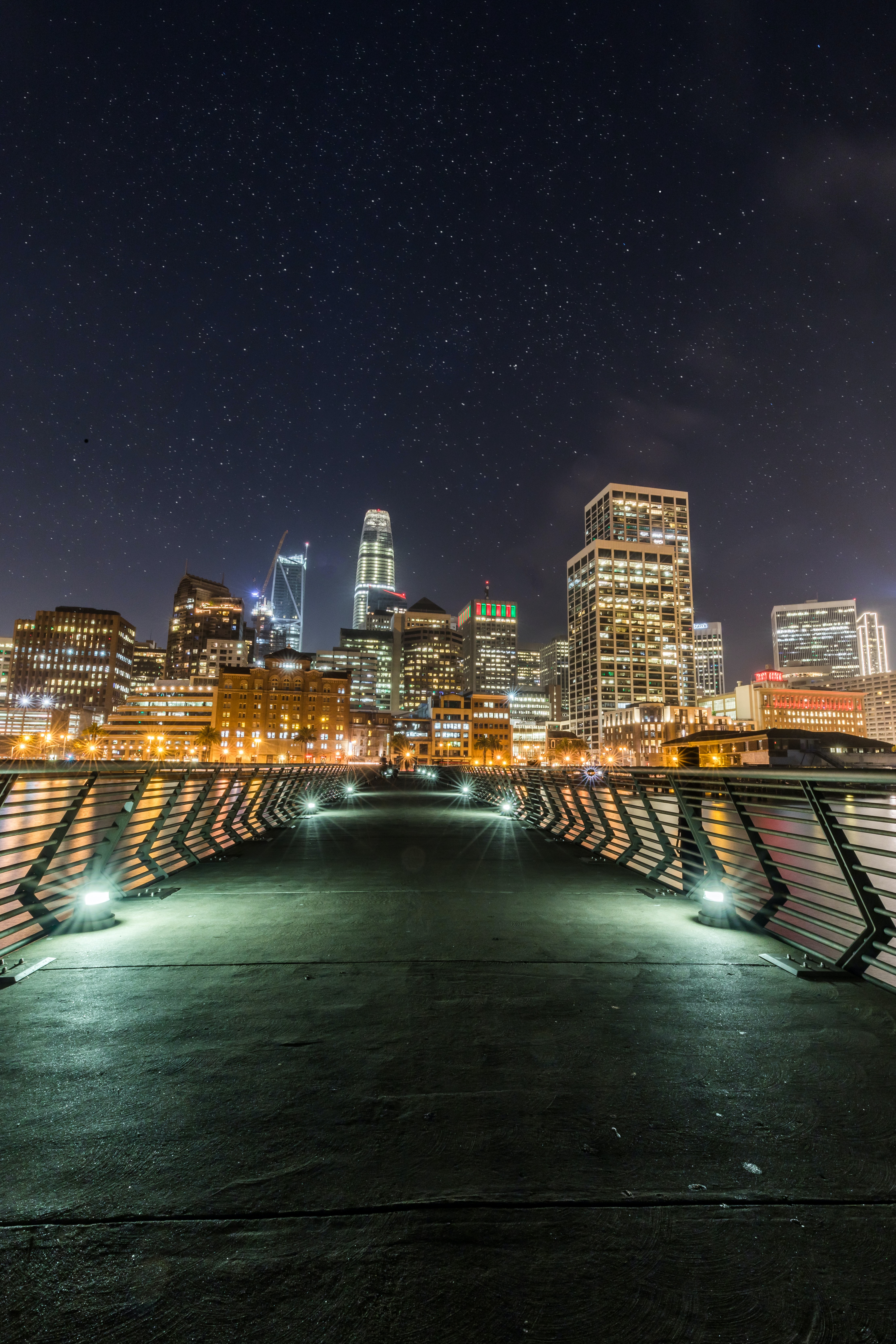 cityscape photo near bridge