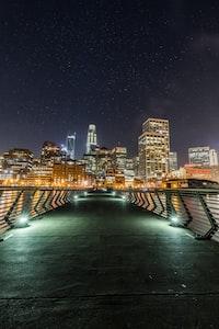 cityscape photo near bridge