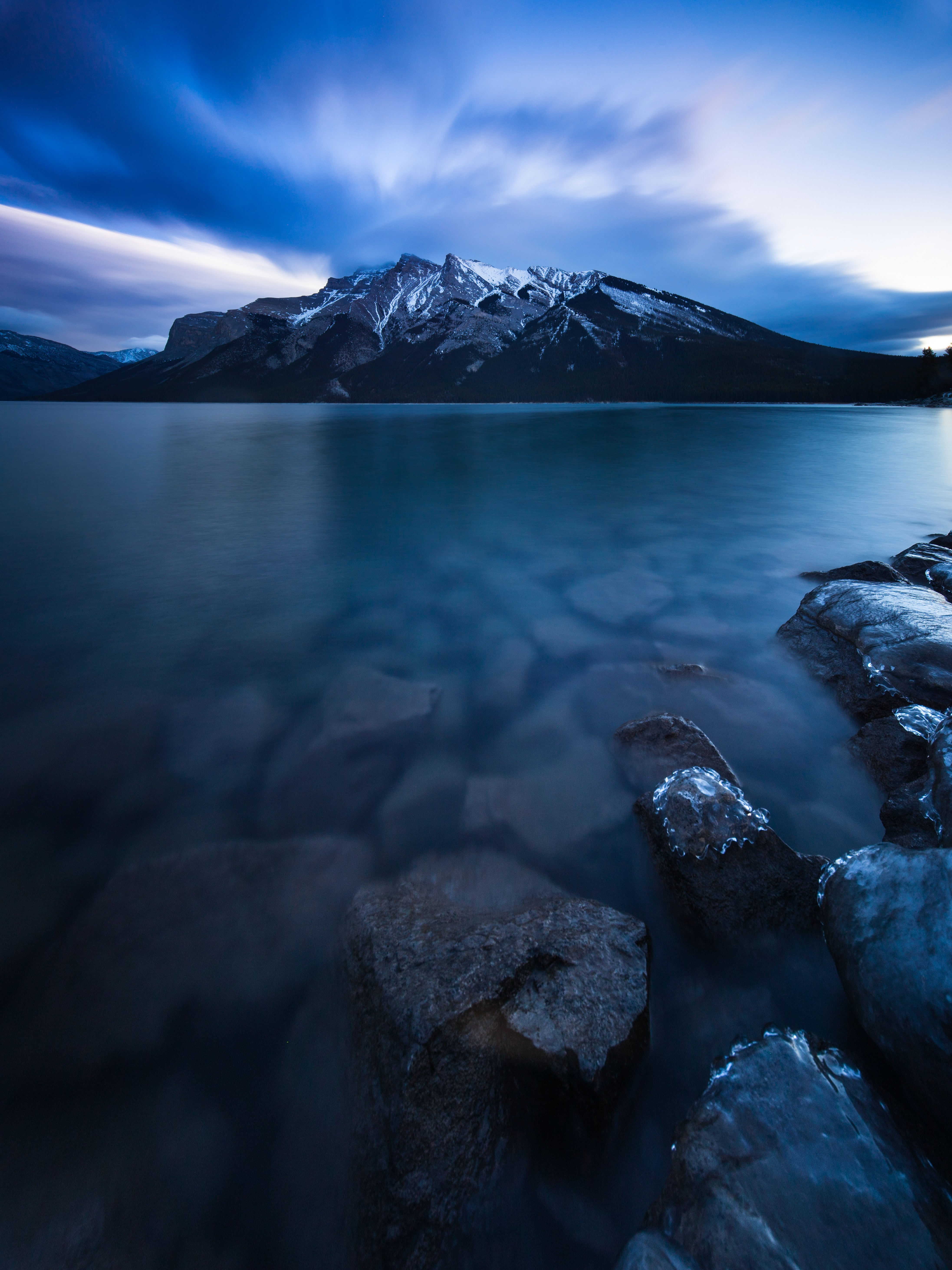 landscape photography of body of water and mountain