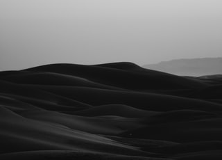 grayscale photo of desert