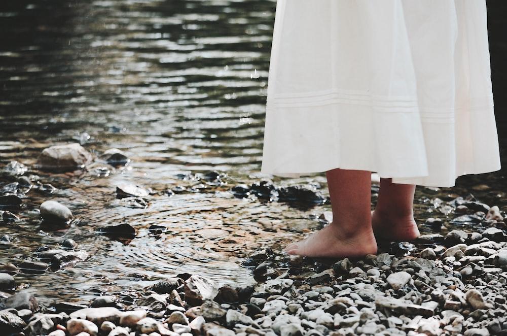 woman near water during daytime