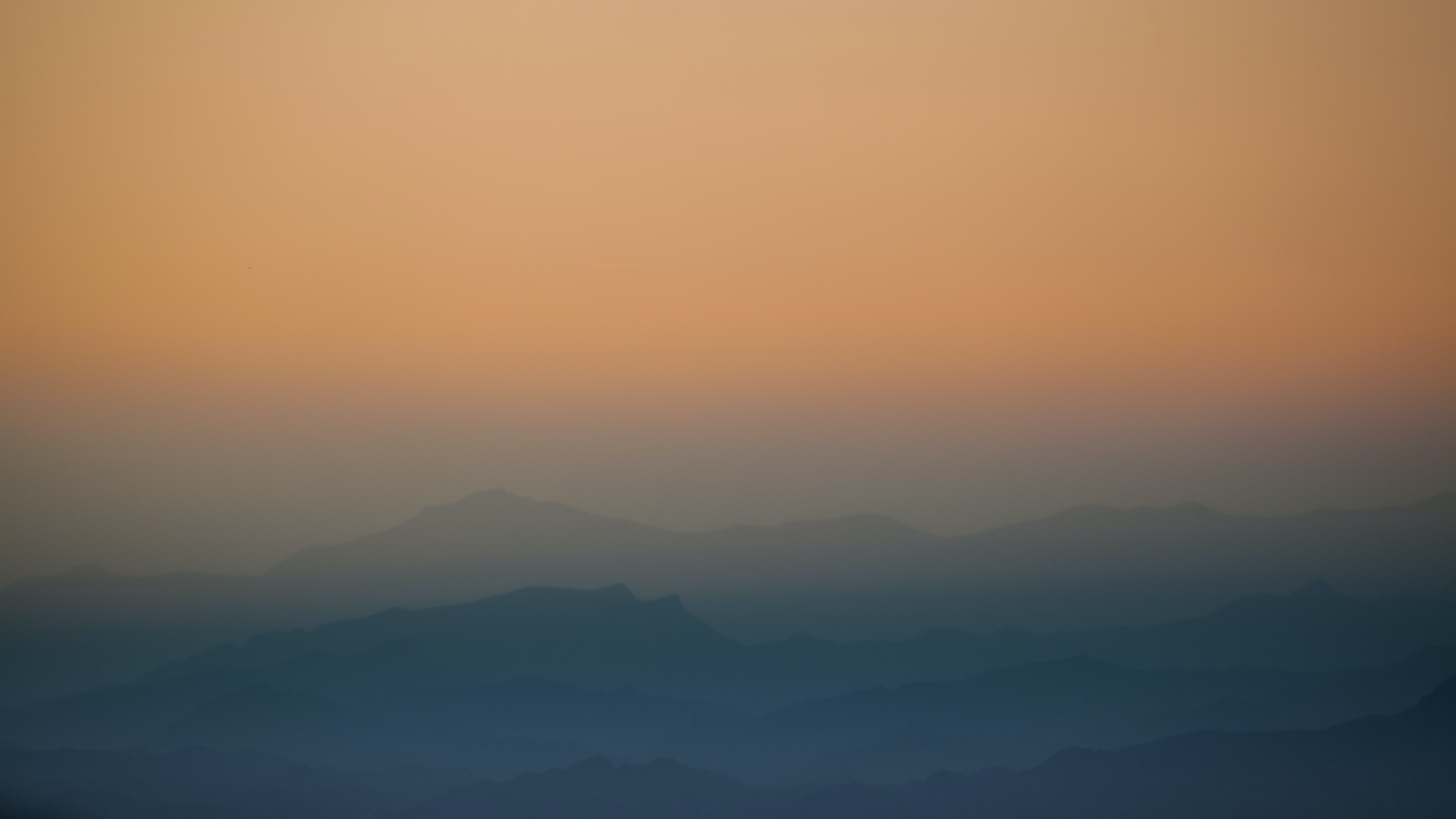 aerial photography of fog mountain