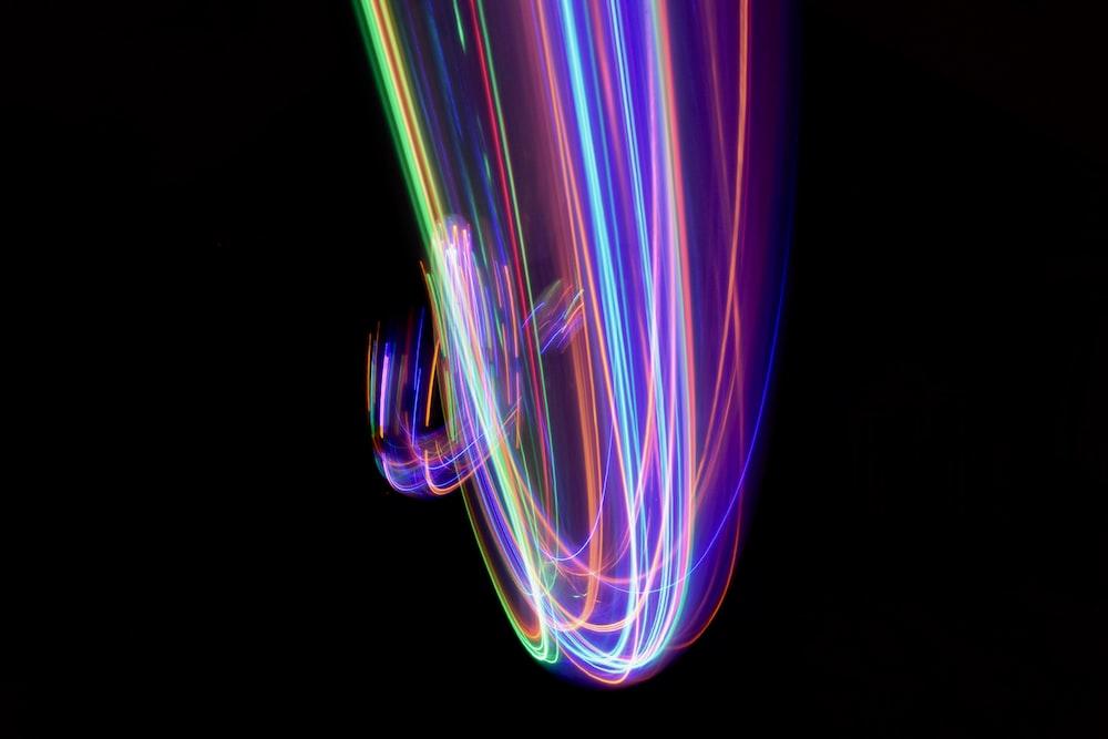 timelapse photo of LED light