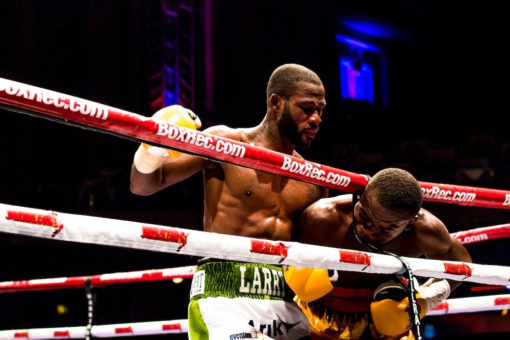 two men inside boxing ring