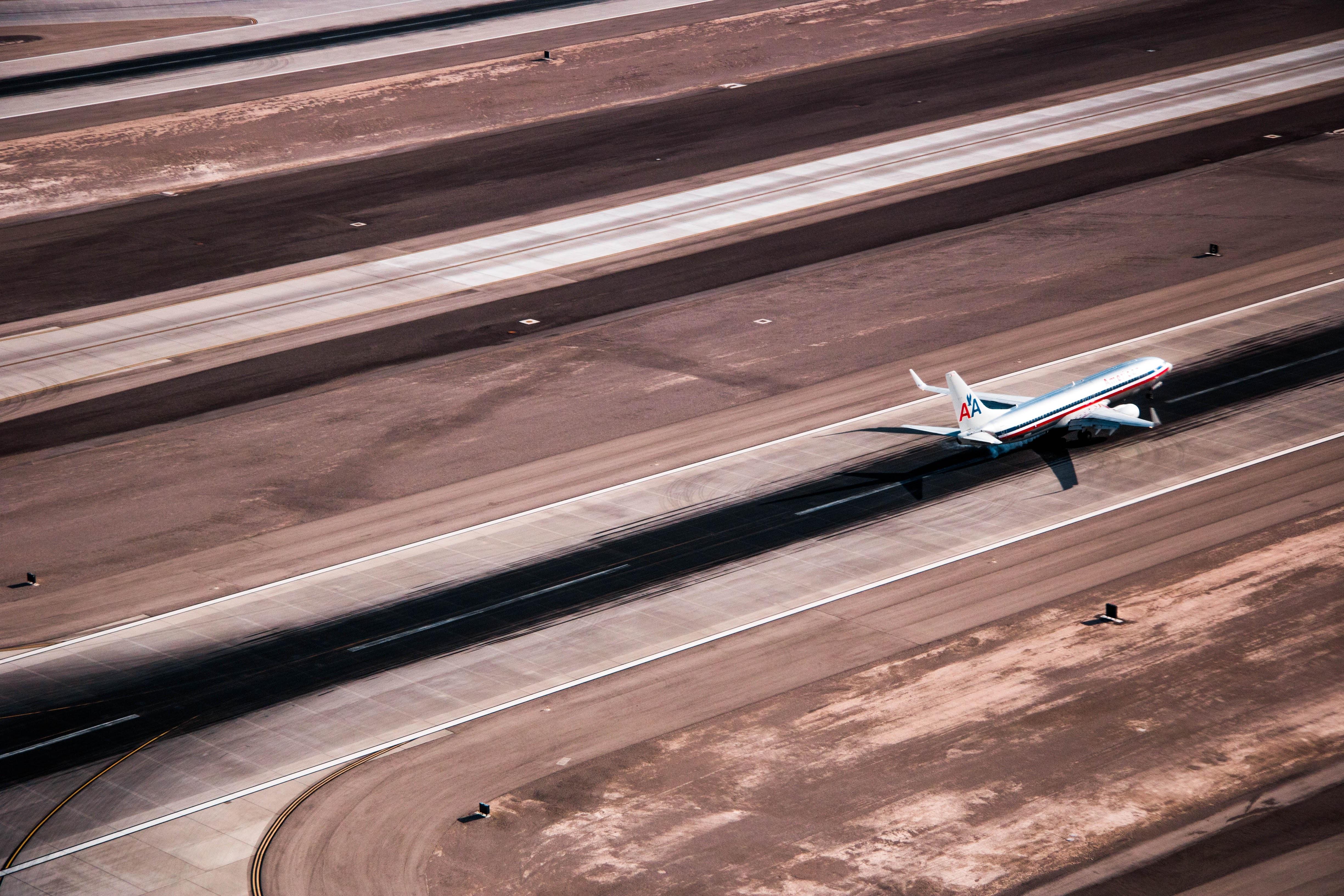 airplane landing on ground