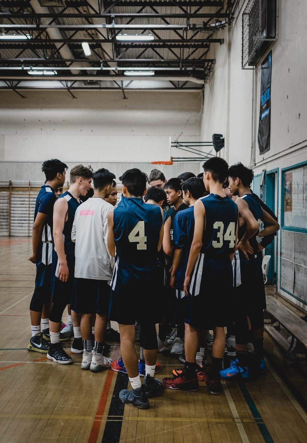 basketball team gathering